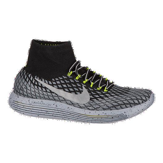 bce69296b909 Nike Men s LunarEpic FlyKnit Shield Running Shoes - Black Silver ...