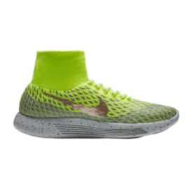 Nike Men's LunarEpic FlyKnit Shield Running Shoes - Green/Silver