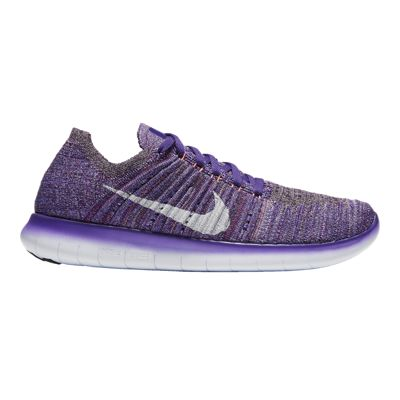 Nike Women's Free RN FlyKnit Running Shoes - Knit Purple/Orange