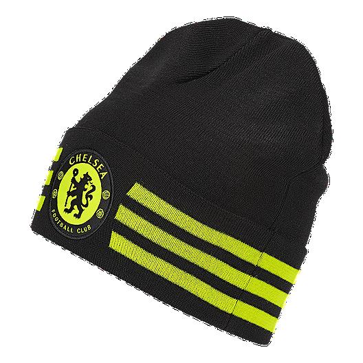 7aa312231bf Chelsea FC 3 Stripes Woolie Beanie