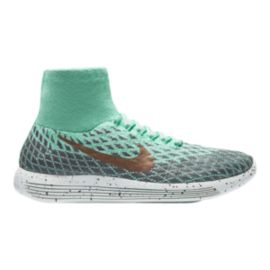 Nike Women's LunarEpic FlyKnit Shield Running Shoes - Teal Green/Grey