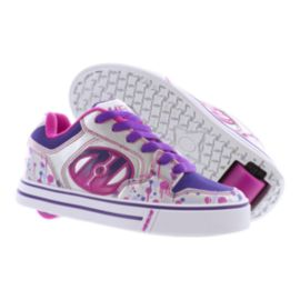 Heelys Girls' Motion Plus Skate Shoes - Silver/Pink/Purple