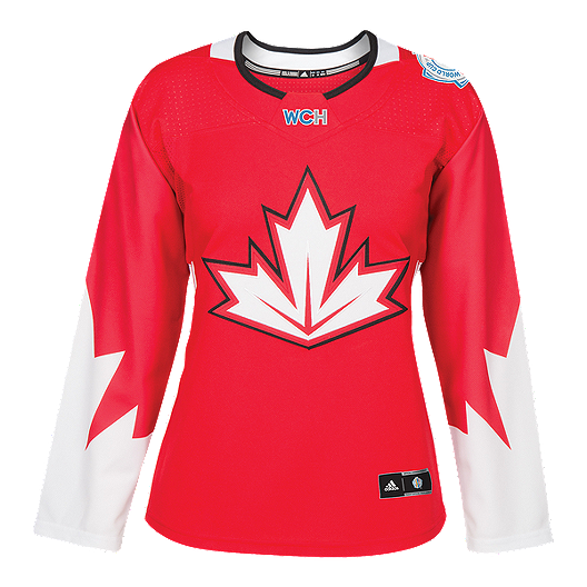 more photos cd3a6 132ca World Cup of Hockey Team Canada Women s Red Hockey Jersey   Sport Chek