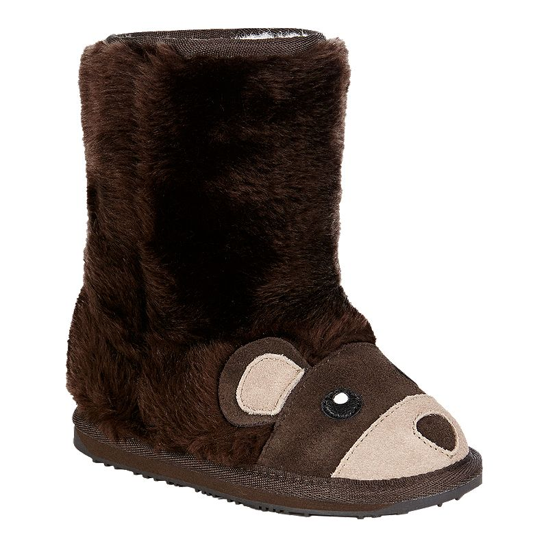 a77b1bf289311 Emu Toddler Girls' Creatures Winter Boots - Bear (809996653425) photo