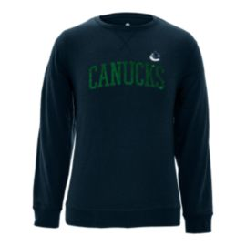 Vancouver Canucks Men's Suede Arch Crew Fleece Top
