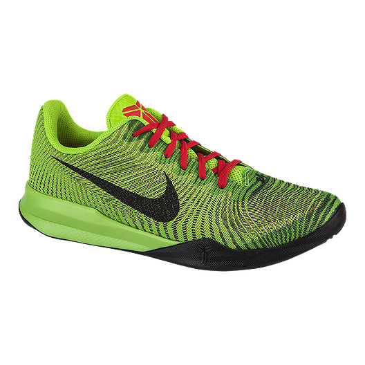 a6a08dcec4d Nike Men s KB Mentality II Basketball Shoes - Green Black Red ...