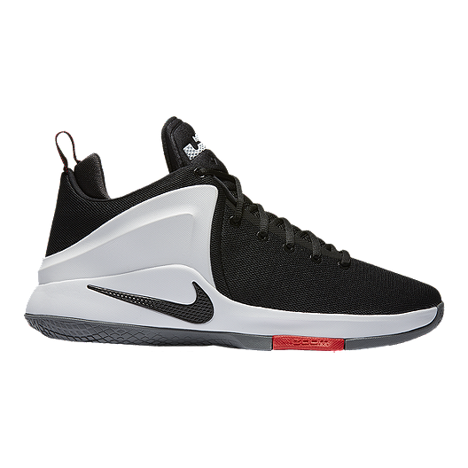 best service 53f99 b7038 Nike Men s Zoom Air Witness Basketball Shoes - Black White   Sport Chek