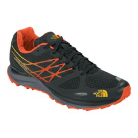 The North Face Men's Ultra Cardiac Trail Running Shoes - Dark Grey/Orange/Yellow