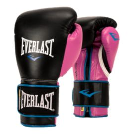 Everlast Powerlock 12oz. Training Gloves - Black/Purple