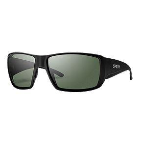 1d5e3a997a212 Smith Guides Choice Polarized Sunglasses- Matte Black with Grey Green  ChromaPop Lenses