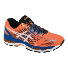 ASICS Men's Gel Nimbus 17 Running Shoes - Orange/Blue