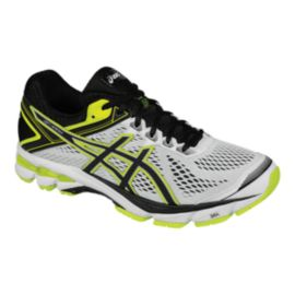 ASICS Men's GT-1000 4 Running Shoes - White/Black/Lime Green