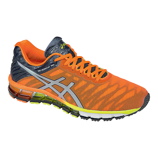 super populaire 3aeb8 39914 ASICS Men's Gel Quantum 180 Running Shoes - Orange/Silver ...