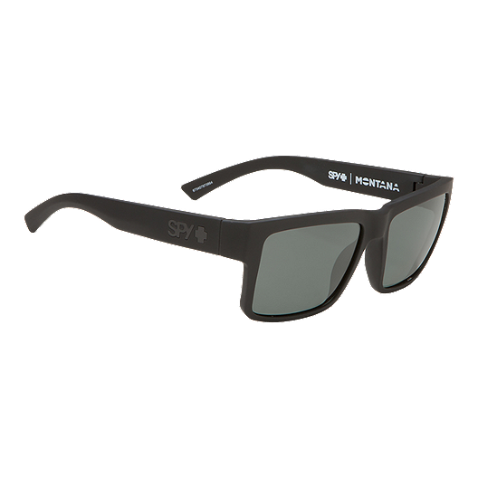b717af772e7f8 Spy Montana Polarized Sunglasses- Soft Matte Black with Happy Gray Green  Lenses