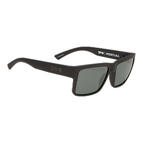 Spy Montana Polarized Sunglasses- Soft Matte Black with Happy Gray Green Lenses