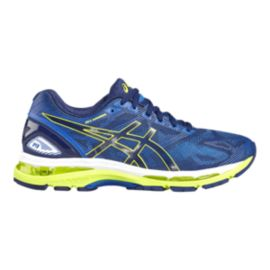 ASICS Men's Gel Nimbus 19 Running Shoes - Blue/Electric Green