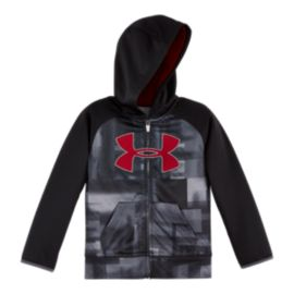 Under Armour Boys' 4-7 Blast Big Logo Full Zip Hoodie