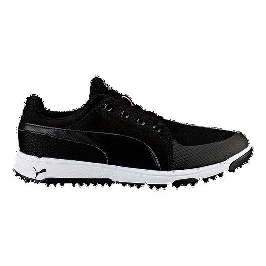 6a6ee4f9c47d PUMA Men s Grip Sport Golf Shoe - Black White