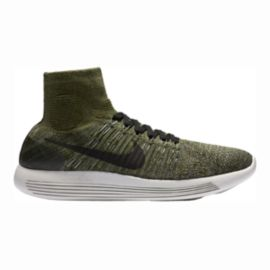 Nike Men's LunarEpic FlyKnit Running Shoes - Olive Green/Black