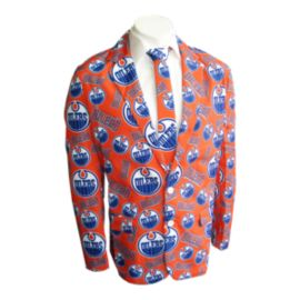 Edmonton Oilers Team Jacket And Tie