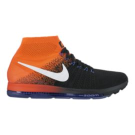 Nike Men's Zoom All Out FlyKnit Running Shoes - Black/Orange