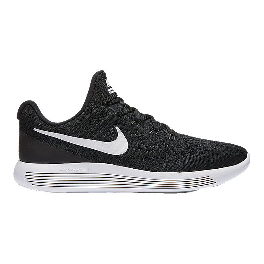 ae9b0ec9bbafe Nike Men s LunarEpic Low FlyKnit 2 Running Shoes - Black White ...