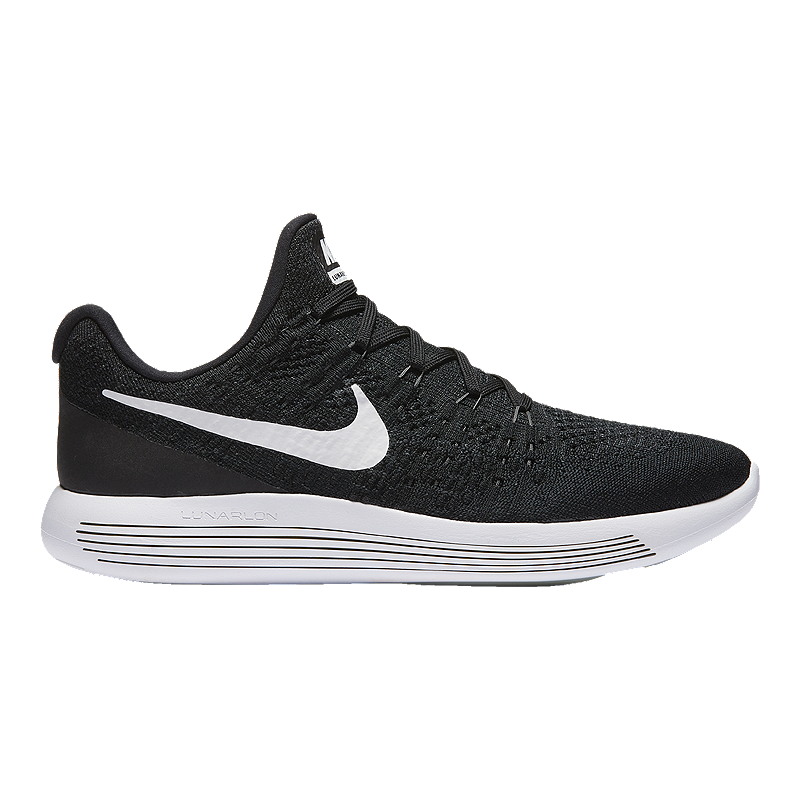 wholesale dealer 06e12 07ad8 Nike Men s LunarEpic Low FlyKnit 2 Running Shoes - Black White   Sport Chek