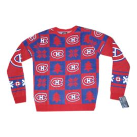 Montreal Canadiens Patches 2.0 Ugly Sweater