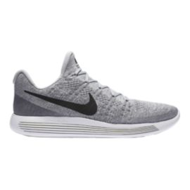 Nike Men's LunarEpic Low FlyKnit 2 Running Shoes - Grey/Black