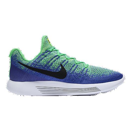 10e43cf2f9829 Nike Men s LunarEpic Low FlyKnit 2 Running Shoes - Blue Mint Green ...