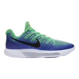 Nike Men's LunarEpic Low FlyKnit 2 Running Shoes - Blue/Mint Green