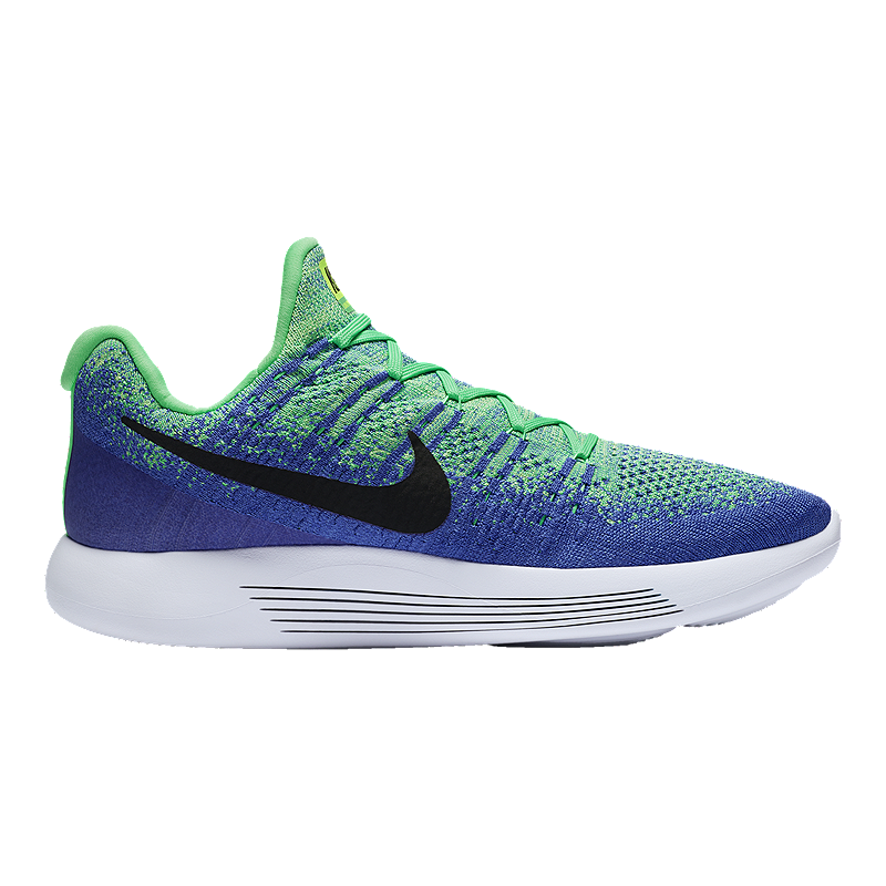 more photos ced8f 7c16b Nike Men's LunarEpic Low FlyKnit 2 Running Shoes - Blue/Mint Green