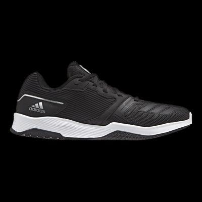 adidas uomini della palestra warrior 2 formazione scarpe nero / bianco sport chek