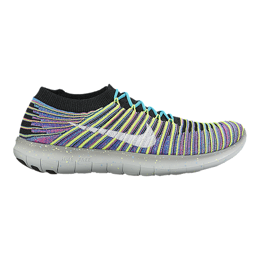 335e7cb8c7e36 Nike Women s Free RN Motion FlyKnit Running Shoes - Multi Colour  Pattern Black