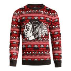 Blackhawks Big Logo 2.0 Ugly Sweater