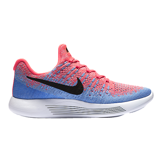 9e25cc9da5fd Nike Women s LunarEpic FlyKnit 2 Running Shoes - Pink Blue
