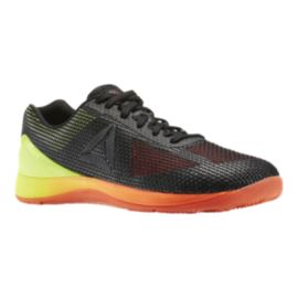 Reebok Men's CrossFit Nano 7 Training Shoes - Black/Orange/Lime Green