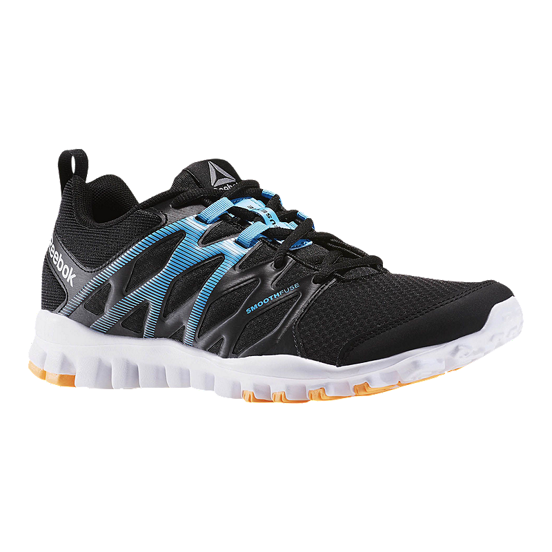 ae12bfafa7aa Reebok Men s RealFlex Train 4.0 Training Shoes - Black Blue