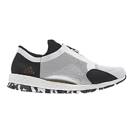 387ae4c6cadca adidas Women s Pure Boost X Zip Training Shoes - White Black Gold ...