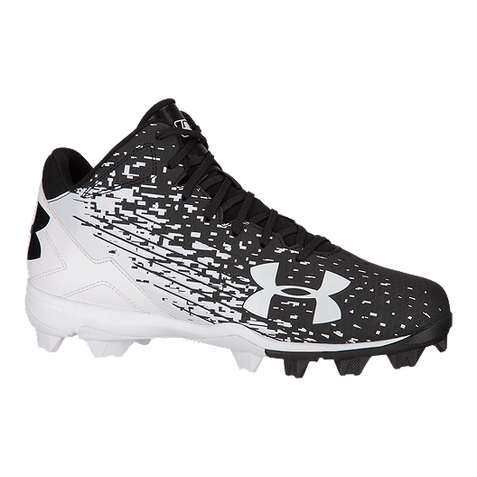 4c919cfd708f Under Armour Men's Leadoff Mid RM Baseball Cleats - Black/White | Sport Chek