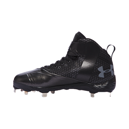 dd23f48165fe Under Armour Men's Harper One Mid Metal Baseball Cleats - Black ...