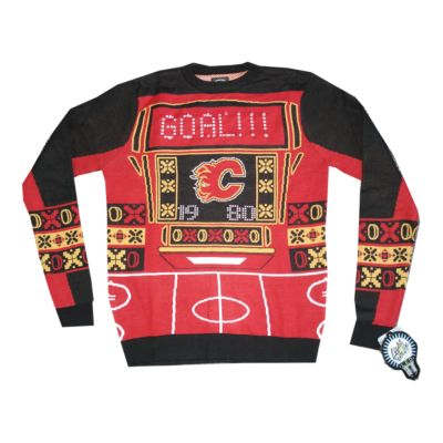 Calgary Flames Light Up Ugly Sweater Sport Chek