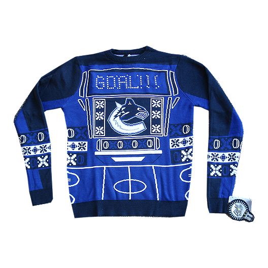 newest a127f f1e61 Vancouver Canucks Light Up Ugly Sweater   Sport Chek
