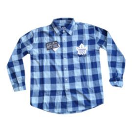 Toronto Maple Leafs Large Check Flannel Long Sleeve Shirt
