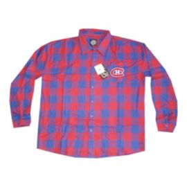 Montreal Canadiens Large Check Flannel Long Sleeve Shirt