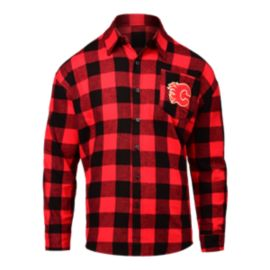 Calgary Flames Large Check Flannel Long Sleeve Shirt