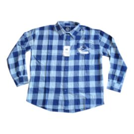Vancouver Canucks Large Check Flannel Long Sleeve Shirt
