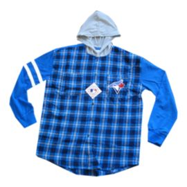Toronto Blue Jays Flannel Hooded Jacket
