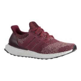 adidas Ultra Boost Men's Running Shoes - Burgandy/White
