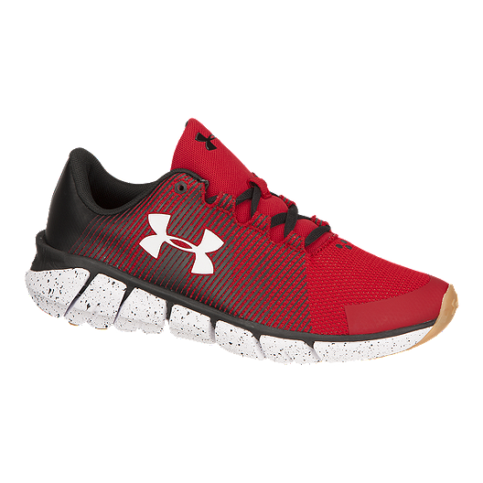 66c49cc3 Under Armour Kids' X Level ScramJet Grade School Running Shoes -  Red/Black/White
